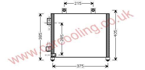 Condenser Opel Agila    4700165 - 09203541 /