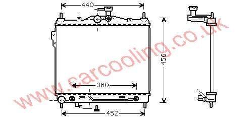 Radiator Hyundai Getz 25310-1C350