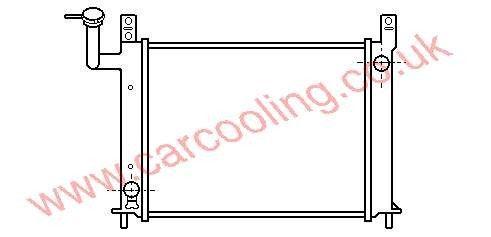 Radiator Nissan Sunny III    21410-77A00