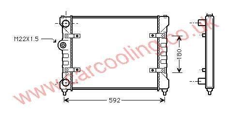Radiator Seat Ibiza II    6K0.121.253 P