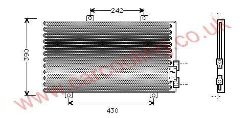 Condenser Alfa 145 I    60610662 / 60630383