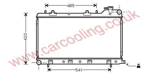 Radiator Subaru Forester 45111-FC350