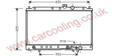 Radiator Mitsubishi Colt IV    MB 660565