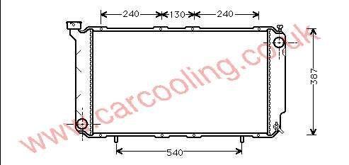 Radiator Subaru Legacy I 45199-AA080 / 220