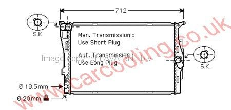 Radiator BMW 3-Series E90/91    7521048