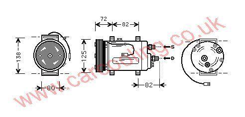 Compressor Audi A4 I 8D0260805F