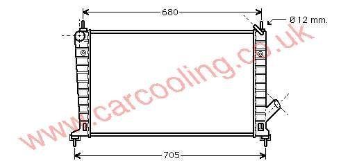 Radiator Saab 9-5 4575700 / 52466797