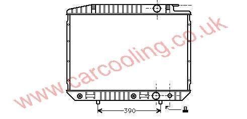 Radiator Merc. W126 Saloon    126.500.3303 / 4803