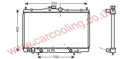 Radiator Honda Accord VI Coupe 19010-P8C-A51 / A52