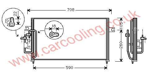 Condenser Hyundai Elantra III    97606-29100