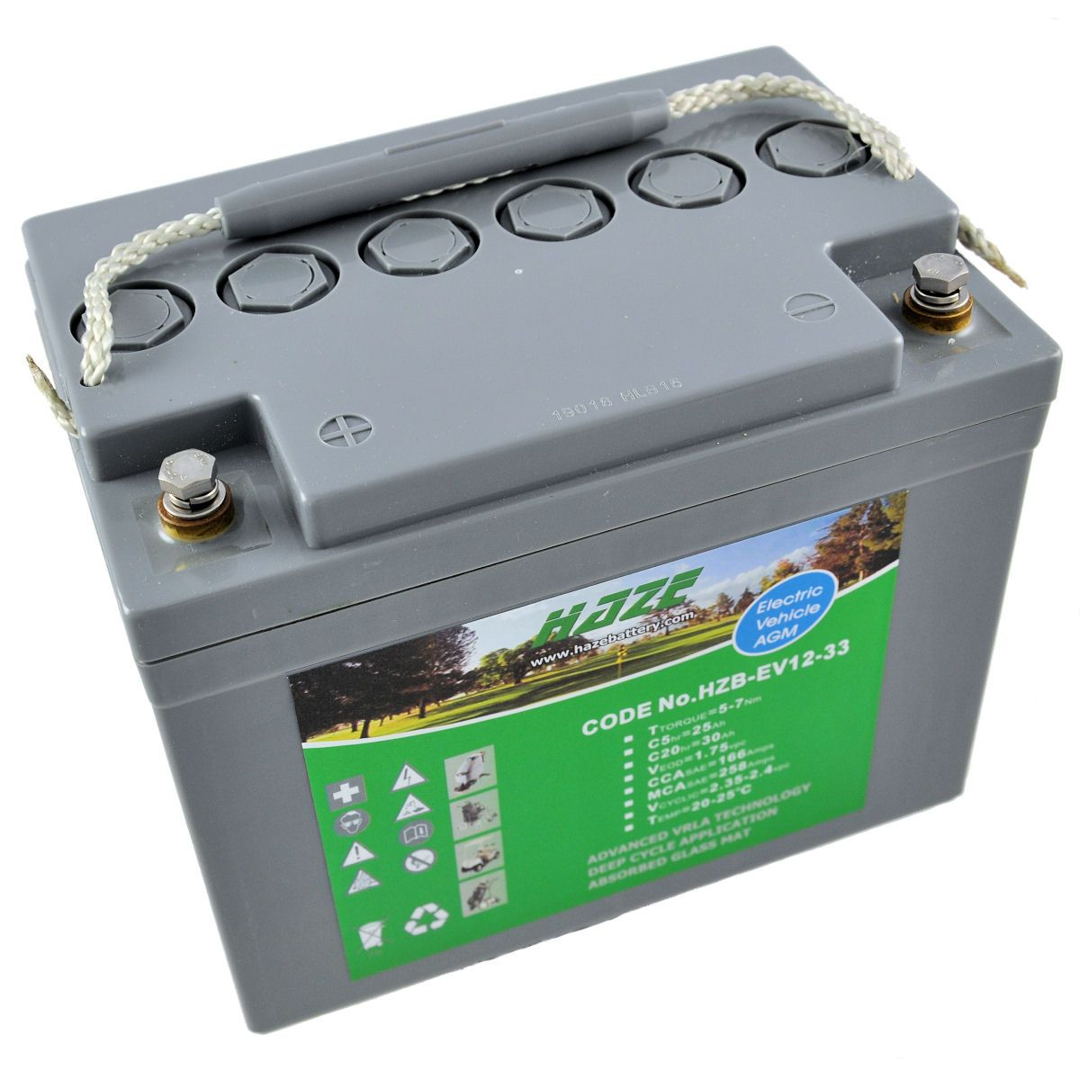 12V 34Ah Haze Sealed Lead Acid (AGM) Mobility Scooter Battery