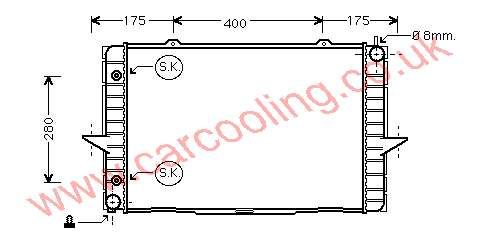 Radiator Volvo 70 Series    8601353