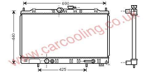 Radiator Mitsubishi Galant V    MR 281668 / 212455