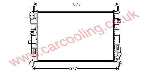 Radiator Ford Mondeo I    93BB 8005 AD / AE