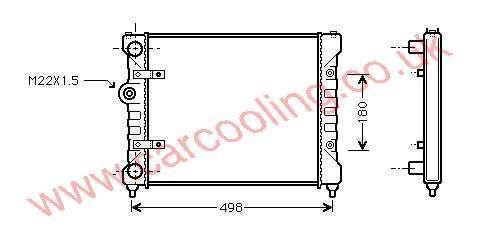 Radiator Seat Ibiza II 6K0.121.253 C / J / R