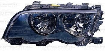 BMW 3 SERIES SAL/EST 98-02 HEADLAMP HALOGEN TYPE - BLACK BM335AGACL