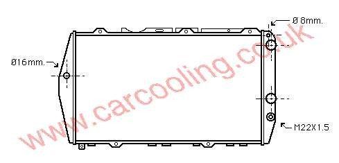 Radiator Audi 100 III    443.121.251 D / N / P