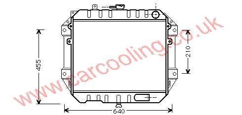 Radiator Daihatsu Rocky    16400-87642