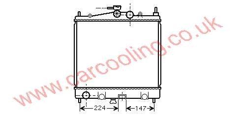 Radiator Nissan Micra K12    21410-AX200