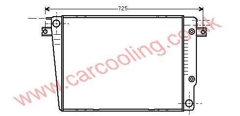 Radiator BMW 6-Series E24 1176621 / 1712448