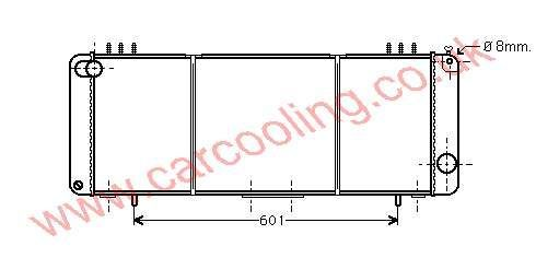Radiator Jeep Cherokee    52029100 / 53001174