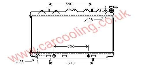 Radiator Nissan Sunny IV 21460-66Y00