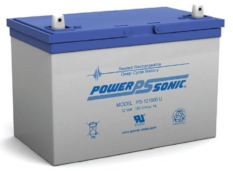 12V 100Ah Power-Sonic Sealed Lead Acid (AGM) Mobility Scooter Battery PS12-100