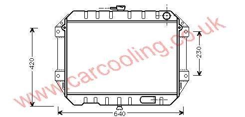 Radiator Daihatsu Rocky    16400-87616