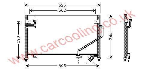 Condenser Mazda 323 IV B01A-61-480