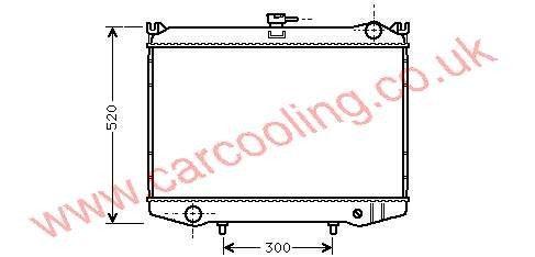 Radiator Nissan Terrano I WD21    21400-10G00 /93G00