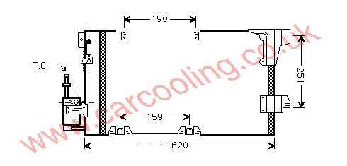 Condenser Vauxhall Astra Mk 4    1850057 - 09119176 /