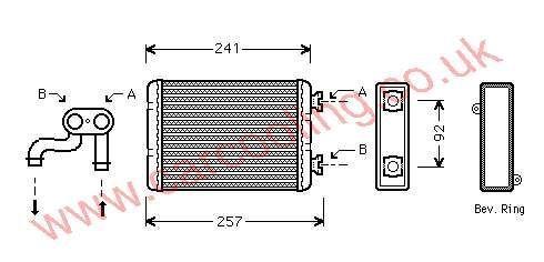 Heater Matrix BMW 3-Series E36 8361915 / 8373786