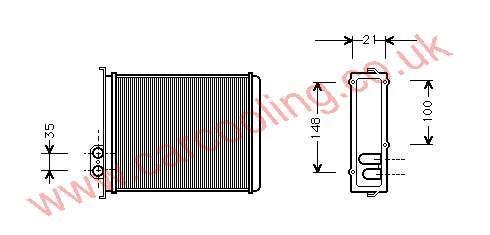 Heater Matrix Volvo 800 Series    9144221