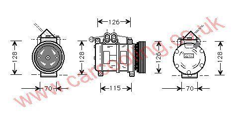 Compressor BMW 5-Series E34    64528391135