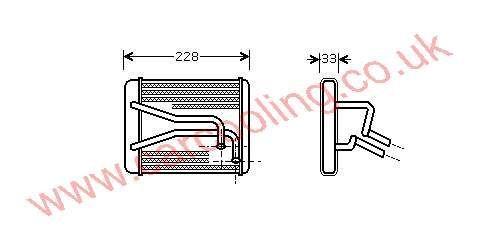 Heater Matrix Kia Carens I    OK2CE-61-A10