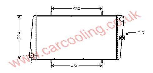 Radiator Austin Montego    ADU 9855 / PCC 1006