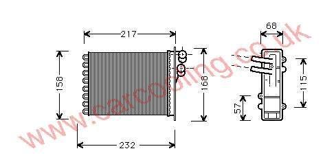 Heater Matrix Chrysler Voyager IV    4798717
