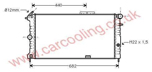Radiator Vauxhall Calibra    1300092 - 03096385
